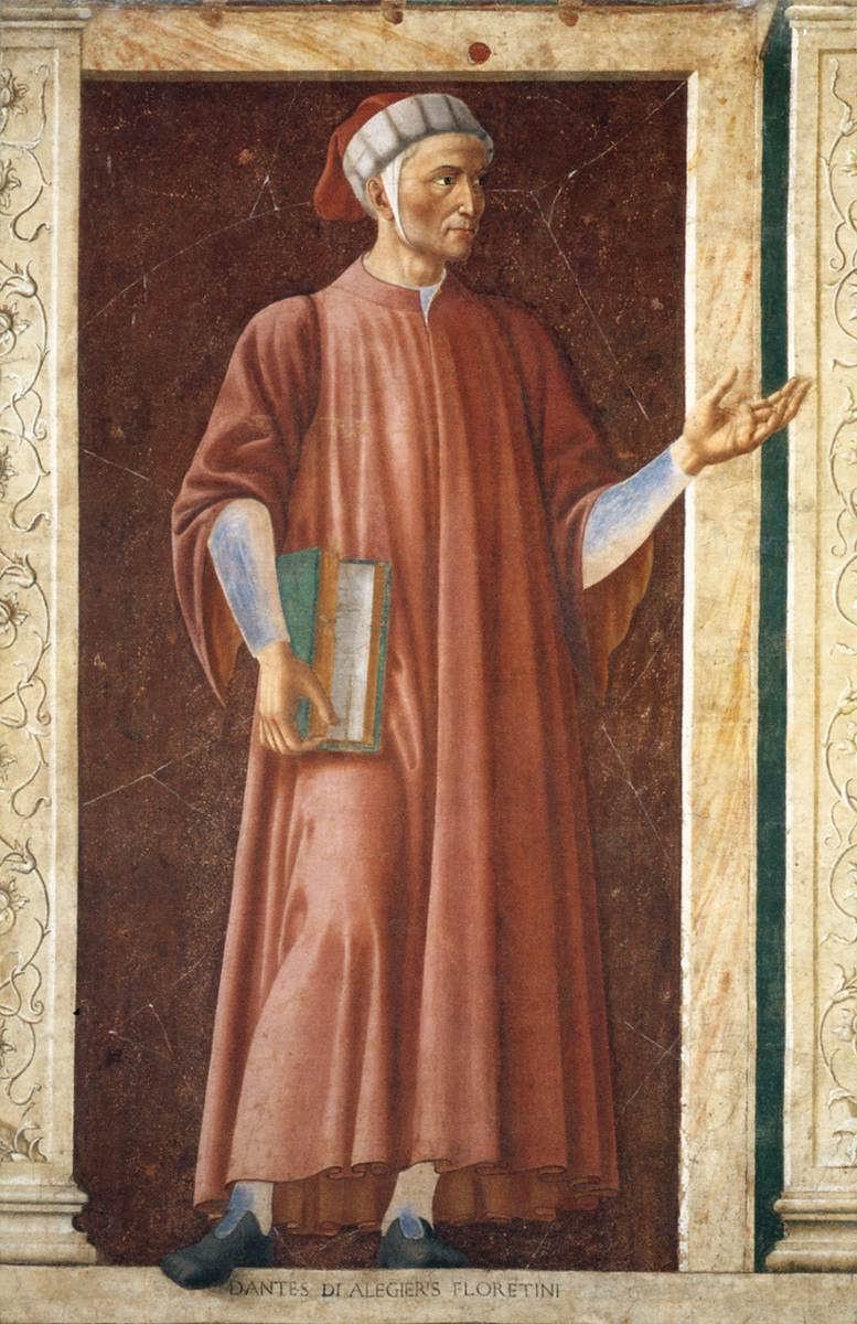 Andrea Del Castagno Dante Portrait Andrea Del Castagno Ritratto